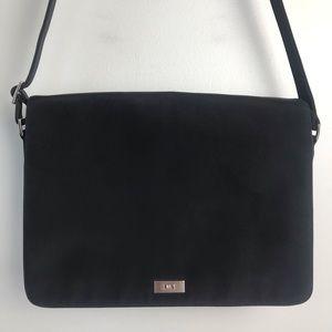 Ralph Lauren Black Nylon Messenger Bag